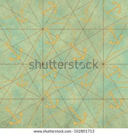 Vintage sea related background 3 - stock vector