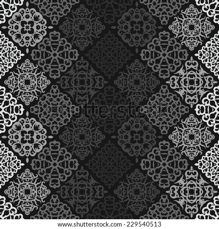Vintage seamless background in gray colors   - stock vector