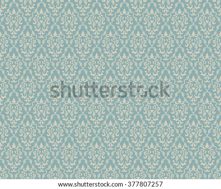 Vintage Seamless Floral Pattern Ornament With Clipping Mask - stock vector