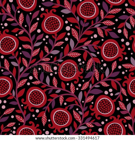 Vintage seamless floral pattern with decorative ...