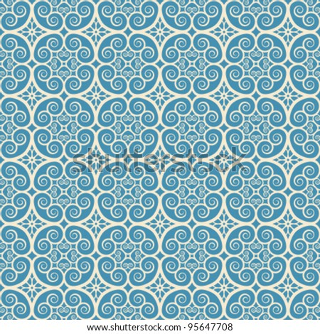 vintage seamless monochrome geometrical pattern background - stock vector