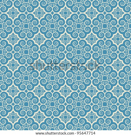 vintage seamless monochrome geometrical pattern background - stock vector