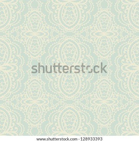 vintage seamless pattern - stock vector