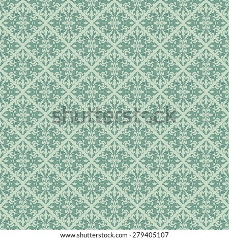 Vintage seamless pattern in classic style in soft retro colors - stock vector