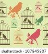 vintage seamless pattern. vector illustration - stock vector