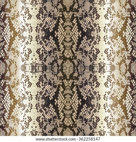 Vintage seamless vector pattern beige structure snakeskin epithelium - stock vector