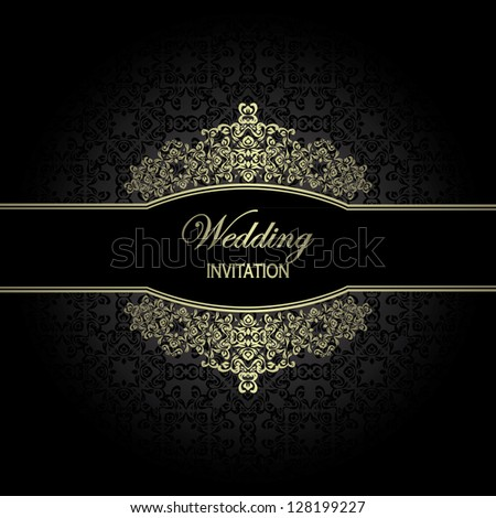 Vintage seamless wallpaper. Can be used as invitation or card - stock vector