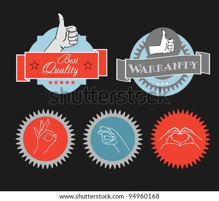 Vintage shopping labels and logo clip-art - stock vector