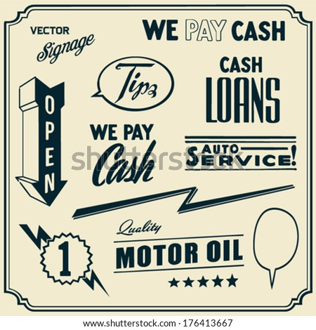 Vintage Signage - stock vector