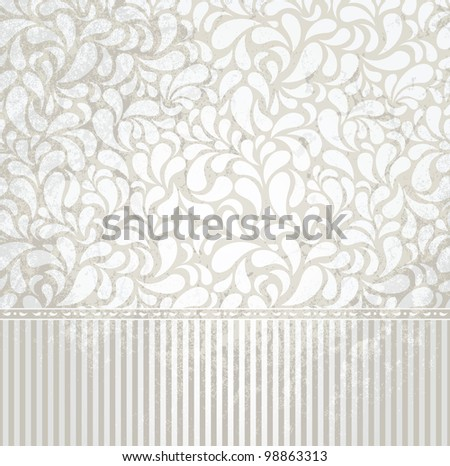 Vintage silver  wallpaper in grunge style. Grunge effect can be removed. EPS 8 vector illustration. - stock vector