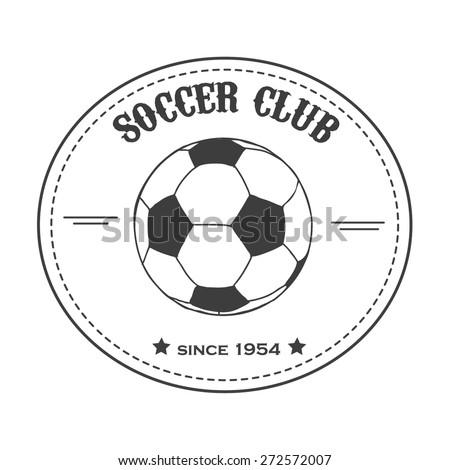 vintage  soccer emblem. Illustration of soccer label. Soccer Football Typography Badge Design Element. Soccer club vector  - stock vector