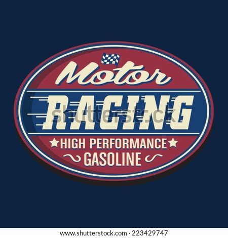 Vintage sport racing, t- shirt typography, vectors - stock vector