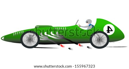 Vintage Sports Racing Car 4 - stock vector