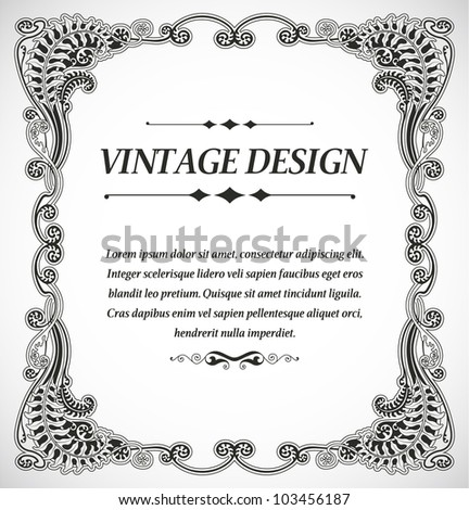Vintage style design - stock vector