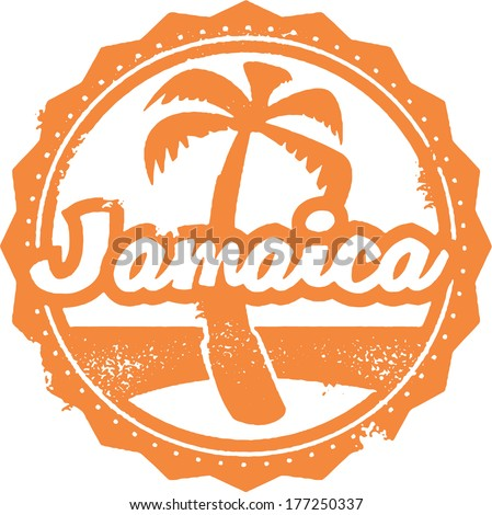 Vintage Style Jamaica Travel Stamp - stock vector