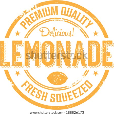 Vintage Style Lemonade Stand Sign - stock vector