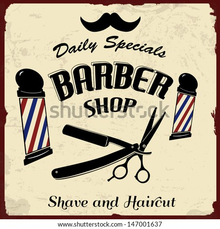 Vintage Barber Clipart Barber Shop Sto...