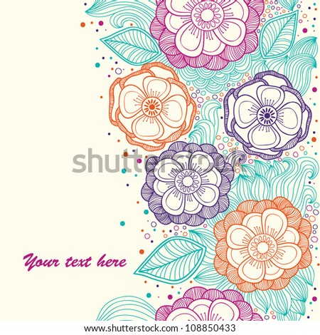 Vintage stylish colorful vector floral seamless pattern - stock vector