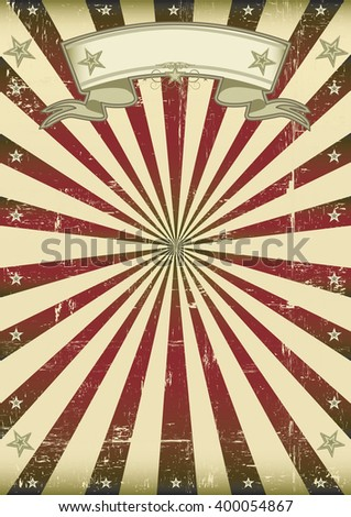 vintage sunbeams background. A vintage background with red sunbeams for a poster - stock vector