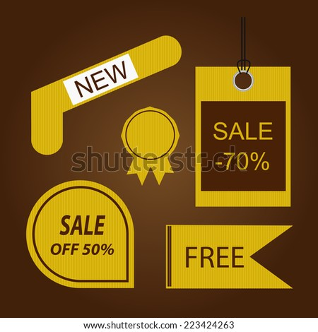 vintage tag for advertising - stock vector