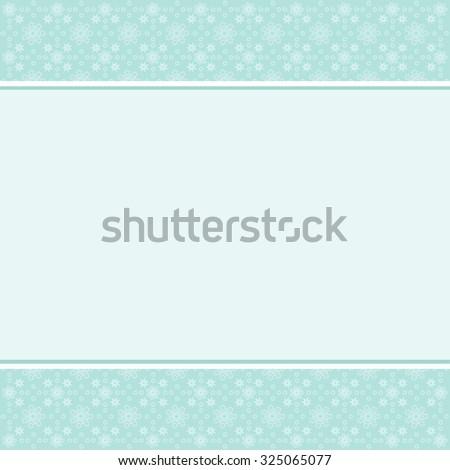 vintage teal, aqua card with stars  - stock vector