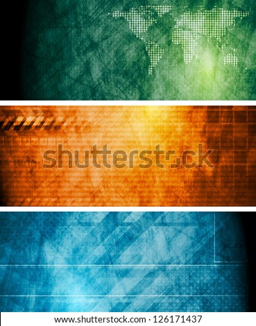 Vintage technology banners. Eps 10 vector design - stock vector