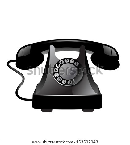 Vintage telephone - stock vector