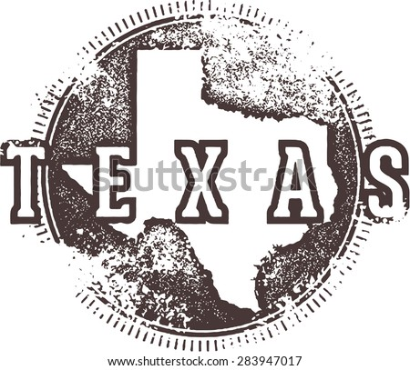 Vintage Texas USA State Stamp - stock vector
