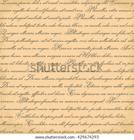 Vintage text pattern. A set of words and text backgrounds applicable in printing, textiles, art objects, clothing, wallpaper, computer screensaver, games and applications . - stock vector