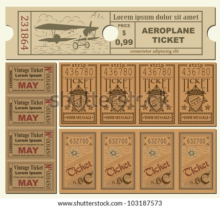 Vintage Tickets - stock vector