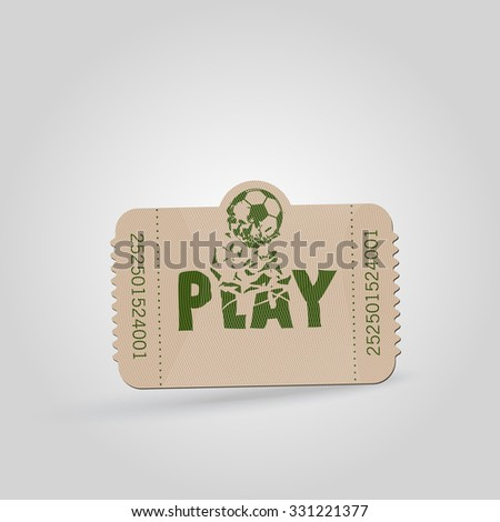 Vintage tickets - play with football theme - Vector illustration  - stock vector