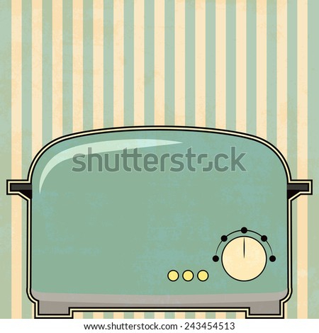 vintage toaster background, illustration in vector format - stock vector