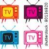 Vintage TV set vector illustration - stock vector