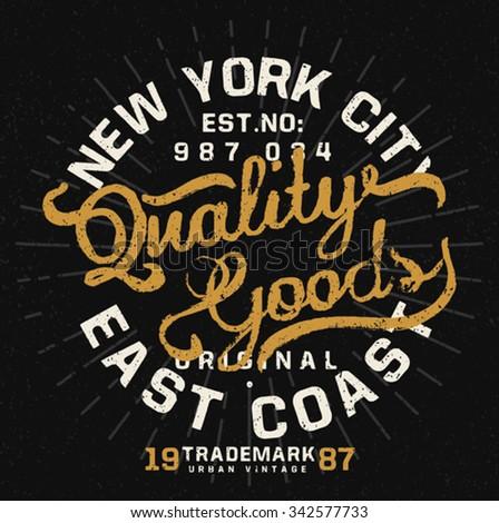 vintage typo tee print design - stock vector