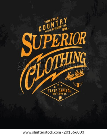 vintage typography for apparel 3 - stock vector