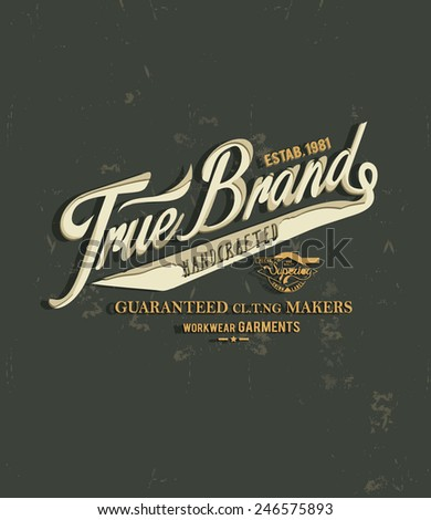 vintage typography for apparel 2 - stock vector