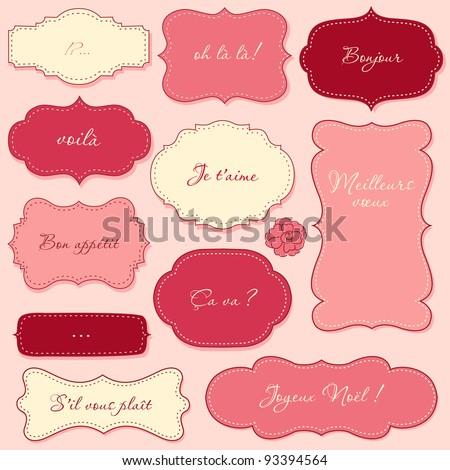 Vintage Valentine Frames - stock vector