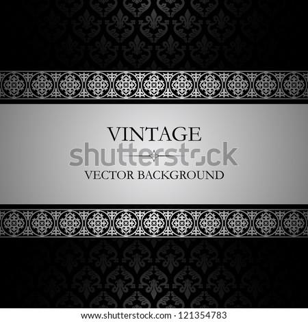 Vintage vector background - stock vector