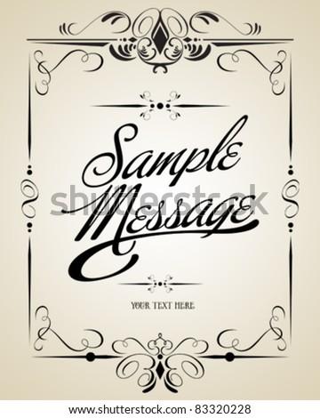 Vintage vector calligraphic set - stock vector