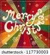 Vintage vector Christmas card - stock vector