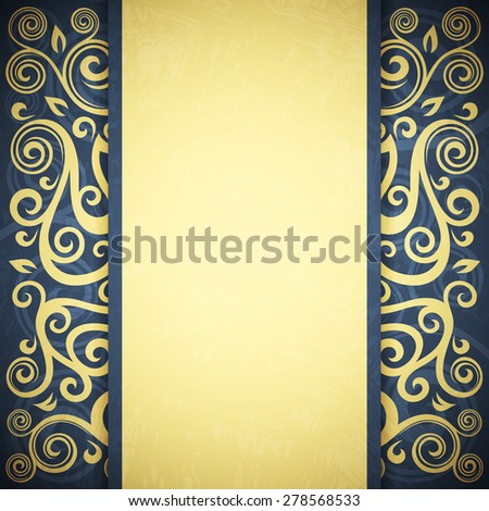 Vintage vector floral background - stock vector