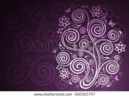 Vintage vector floral illustration. - stock vector