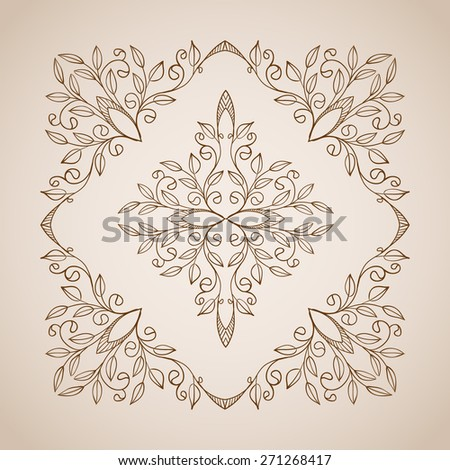 Vintage vector frames and decorative floral elements. - stock vector