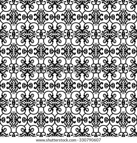 vintage wallpaper pattern design on white background - stock vector