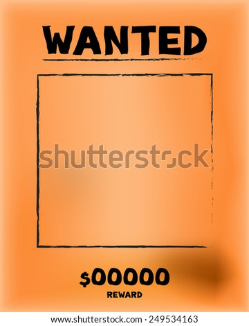 Vintage wanted paper vector and illustration - stock vector