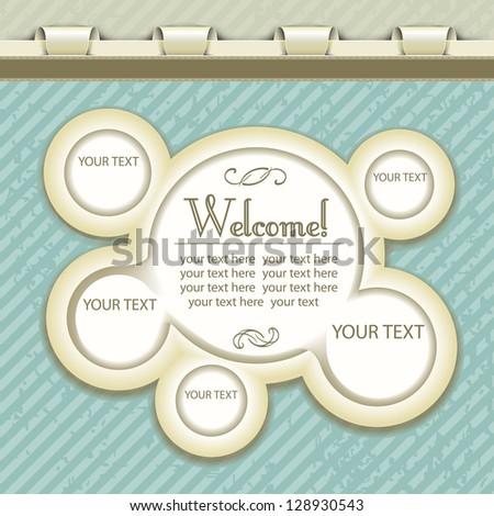 vintage web design with bubbles - stock vector