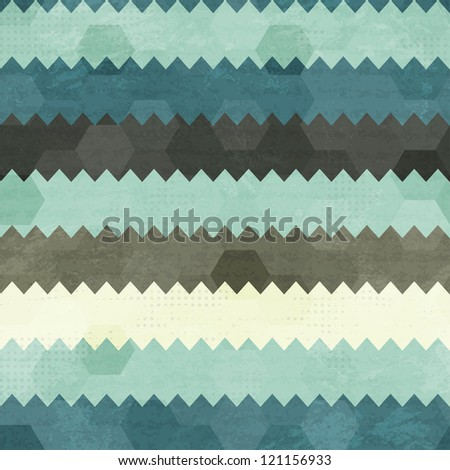 vintage zigzag seamless pattern - stock vector