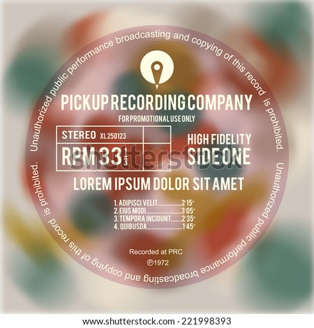 Vinyl cover or label design layout - stock vector