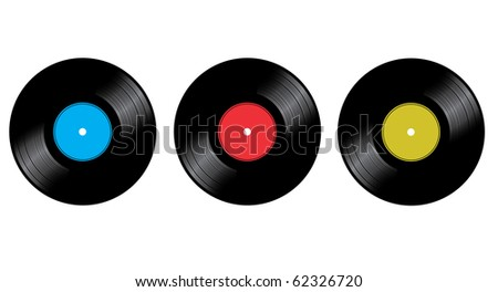 Vinyl disc - stock vector