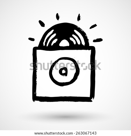 Vinyl draw sketch grunge in vector format - stock vector